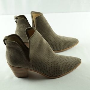 Lucky Brand Loria Ankle Booties 9.5 Taupe